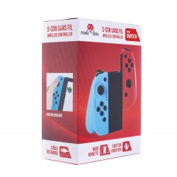 Manette Switch Freaks and Geeks Type Joycon Bleu et Rouge + Grip + Cable + Stick NEUF
